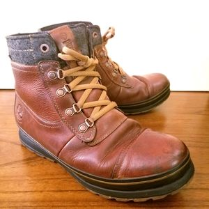 Timberland Brown Leather Boots 8.5 US Men's